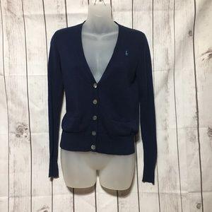 Ralph Lauren Polo Sport Cardigan Sweater S Blue